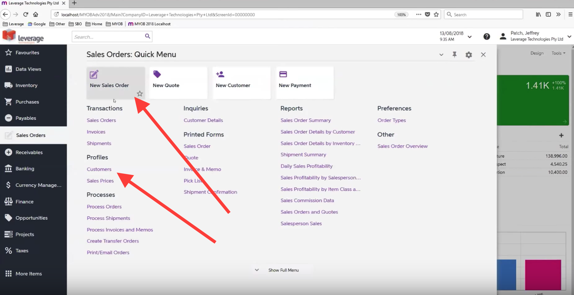 Tyles and Entry Forms in MYOB Advanced 2018.1