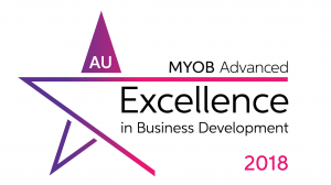 MYOB Advanced Excellence in Business Development Award 2018